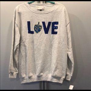 New Hanukkah Love Light weight Sweatshirt L